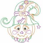 FREE Multi-Color Linework Jack-O-Lantern