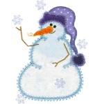 FREE Applique Snowman & Snowflakes