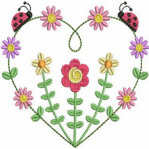 FREE Floral Heart