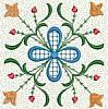 FREE Floral Stipple Quilt Block 1