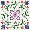 FREE Floral Stipple Quilt Block 2