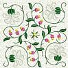 FREE Floral Stipple Quilt Block 3