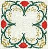 FREE Floral Stipple Quilt Block 7