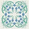 FREE Floral Stipple Quilt Block 10