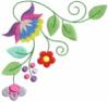 FREE Jacobean Floral Corner 02