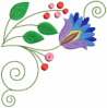 FREE Jacobean Floral Corner 03