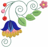 FREE Jacobean Floral Corner 04