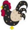 FREE Dotted Rooster