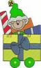 FREE Christmas Train Elf Car