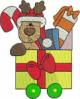 FREE Christmas Train Reindeer Car