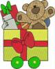 FREE Christmas Train Teddy Bear Car